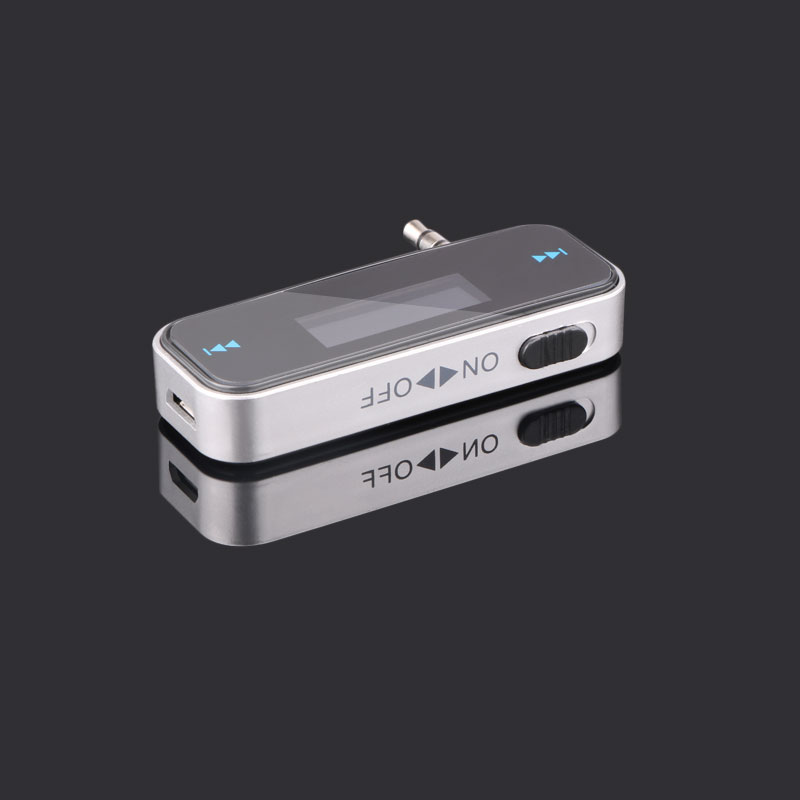 3.5mm MP3 Music Audio FM Transmitter Mini Wireless LCD Display Car Transmitter Handsfree Kit For Iphone Android Mobile Phone Aux griffin roadtrip fm transmitter for iphone and ipod black