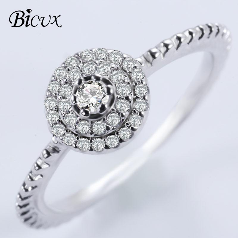 Ehrgeizig Bicux Mode Klassische Geometrische Luxus Multi Shiny Kristall Silber Ringe Für Frauen Engagement Zirkonia Zahn Ring Schmuck Jade Weiß Hochzeits- & Verlobungs-schmuck