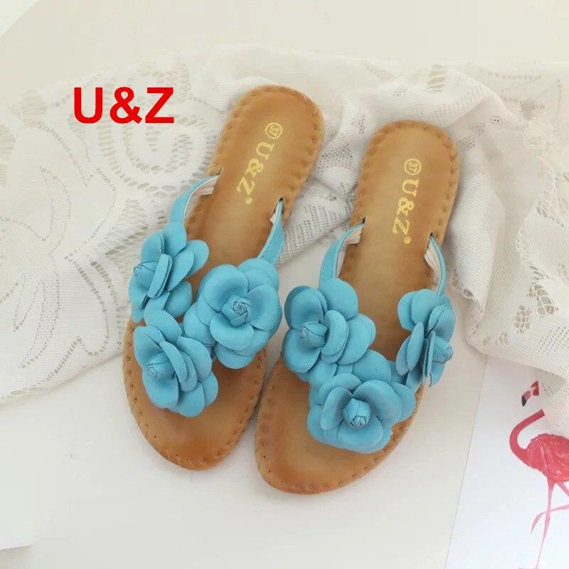 Новые летние женские ткань цветочные тапочки NewYork, женские Вьетнамки цветы тапочки милые босоножки камелии Обувь пляжные сандалии
