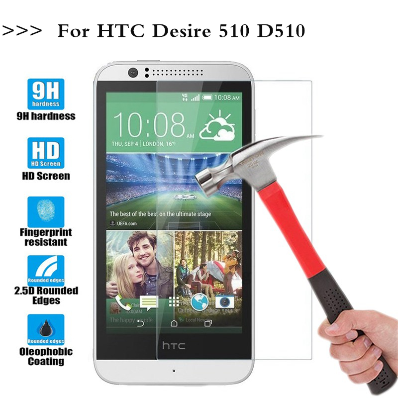 (TaiRuiXing) Screen Protector Film 0.3mm 9H 25D Front Premium Tempered Glass For <font><b>HTC</b></font> <font><b>Desire</b></font> <font><b>510</b></font> D510 <font><b>Cover</b></font> image