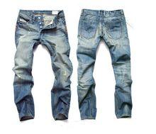 2016 моделей взрыва продаже мужские бренды джинсы кошки должны быть прямо отверстие Тонкий джинсы большой ярдов бесплатная доставка
