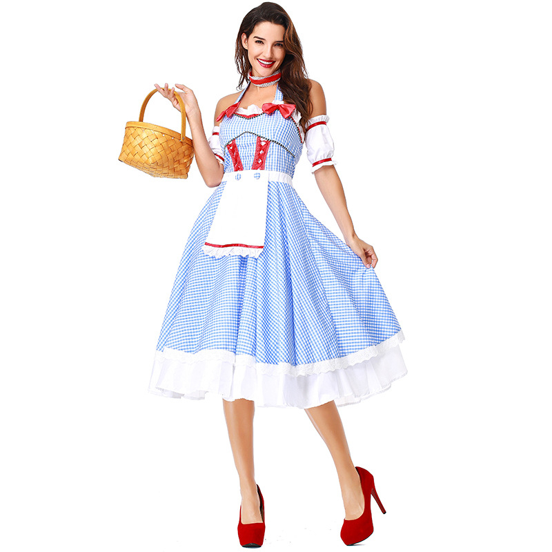 Umorden Kansas Cutie Dorothy Wizard of Oz Costume Dress Women Adult Halloween Classic Costumes Cosplay