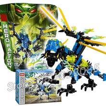 154pcs Bela Hero Factory Brain Attack Dragon Bolt Model Building Bricks DIY Figures Minifigures Toys Compatible With Lego