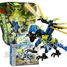 154pcs Bela Hero Factory Brain Attack Dragon Bolt Model Building Bricks DIY Toys Compatible With Lego
