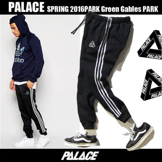 Palace Pants dance 100% cotton Casual motion trousers fashion Sweatpants Palace Full Length Men Hip Hop Skatebaords Sportswear