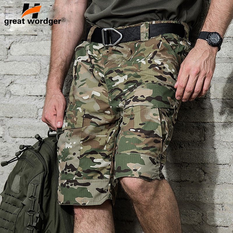 Tactical Waterproof Cargo Shorts mens silm Hiking Shorts Combat SWAT Army military Outdoor Camouflage Shorts
