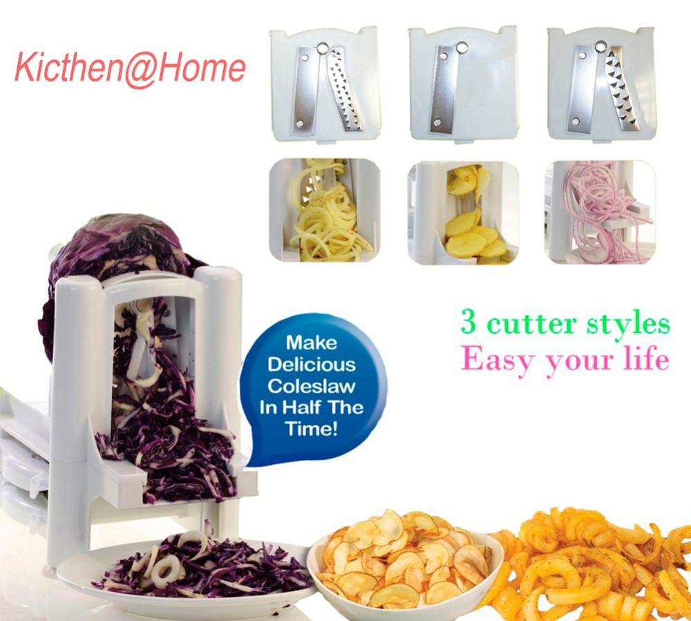 3 Blades In1 Spiral Slicer Garnish Cutter Peeler Shredder Fruits Vegetable Curly For Carrot Potato Cucumber K012