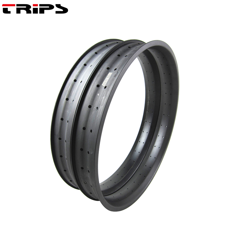 90mm width carbon fatbike rim 26er hookless carbon snow fat bike wheels rims Carbon Fiber tubeless
