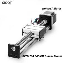 Линейный этап путешествия Длина 300 мм линейный слайд стол SFU1204 + Neme17 шаговый двигатель для ЧПУ