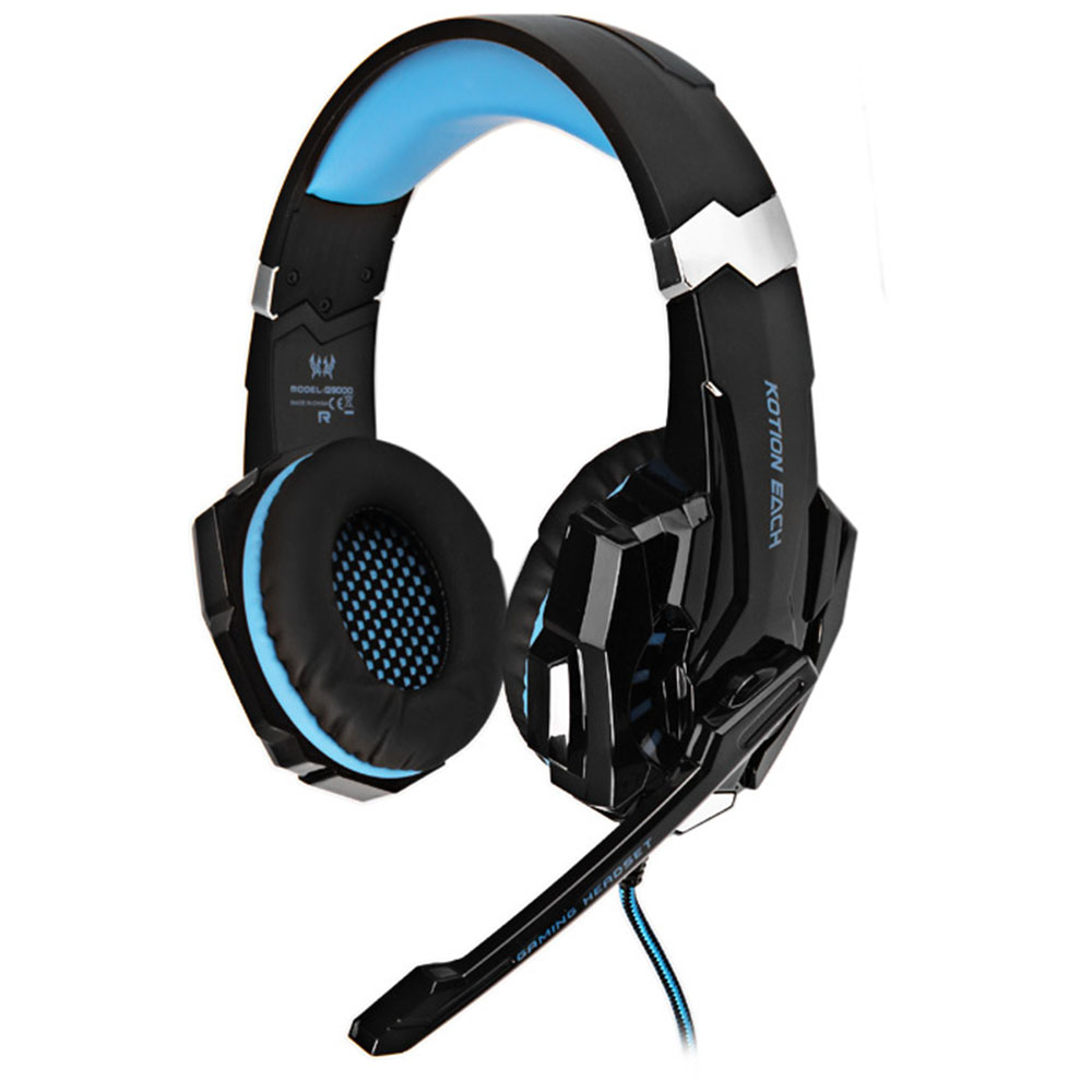 Original KOTION EACH G9000 Gaming Headphone 3.5mm Game Headset Headband With Mic LED Light For PS4 Laptop Tablet Mobile Phones