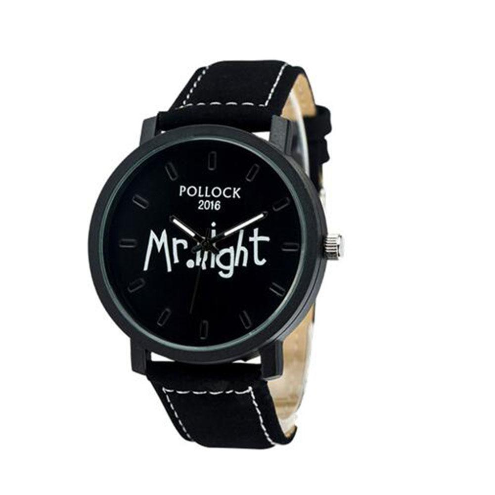 pollock Lovers Stylish Quartz Watch MR/MRS Big/Small Dial Casual Wristwatch Ornament Gift mr small