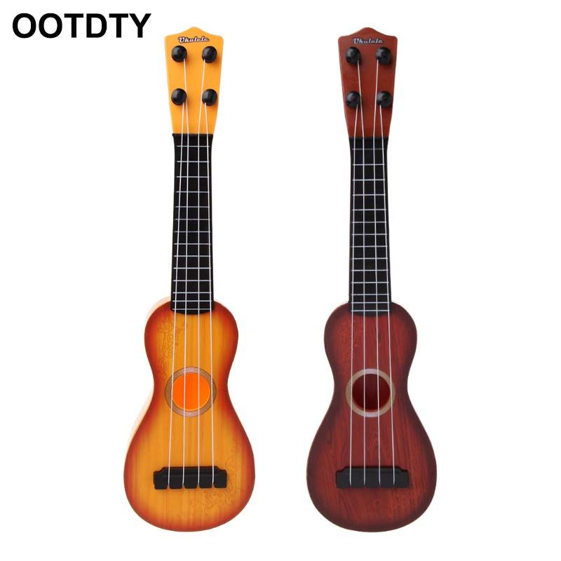 Mini Ukulele Kids Toy Simulation Musical Instruments Children Pretend Play Game ...