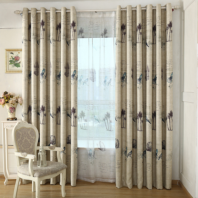 Us 699 50 Offready Made Rustic Style Curtains For Kitchen Living Room Bedroom Decorative Vintage Birds Window Curtains Drapes Home Decor In