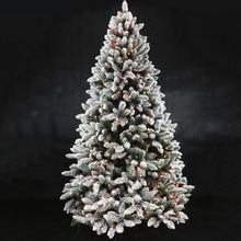 Новогодний подарок из флока Рождественская елка снежинка Дерево Рождественская семья отель торговый центр украшение