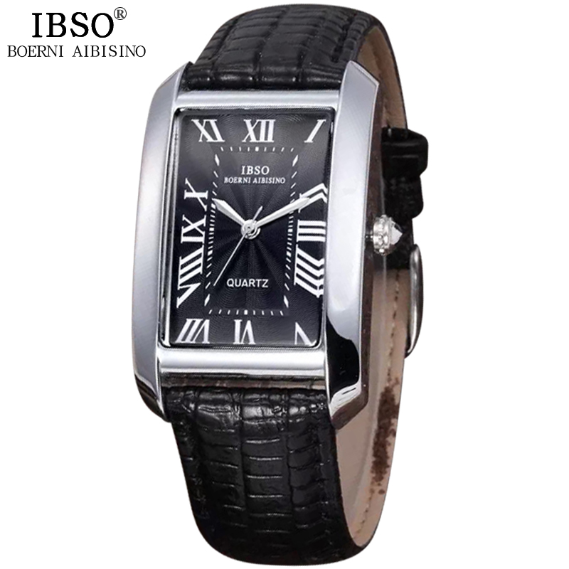 IBSO 2018 New Date Casual Top Quality Watch The Man Business Office Leather Band Mens Watches Travel Original Erkek Kol Saati