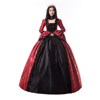 Full Lace Party Dress Red Floral Patterns and Black Pleated Layering with Pleated Sleeves