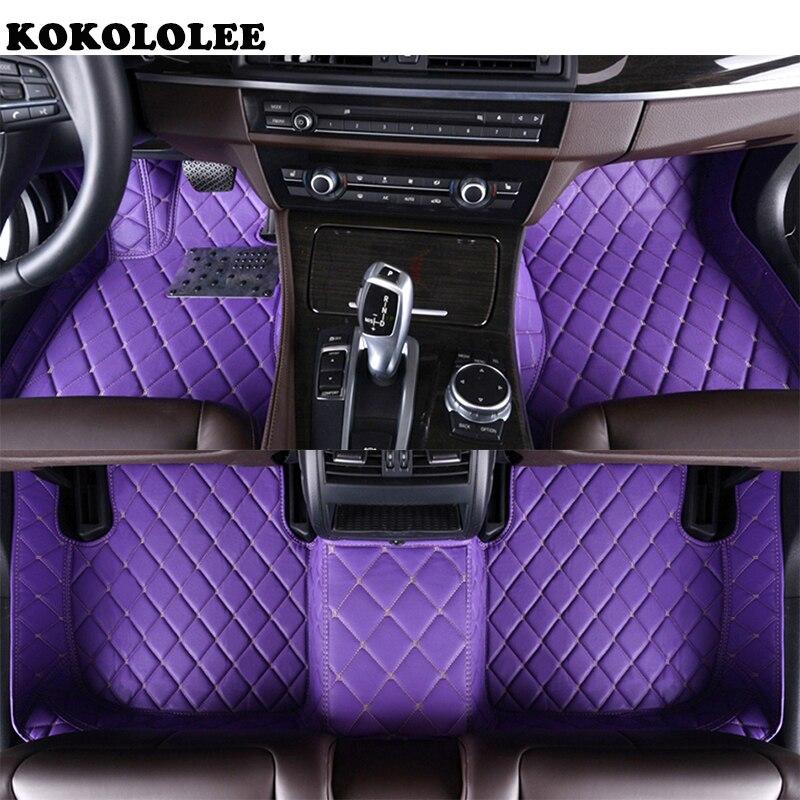 KOKOLOLEE Personnalisé plancher de la voiture tapis pour Honda Tous Les Modèles CRV XRV Odyssey Jazz Ville crosstour S1 CRIDER VEZEL auto pied tapis