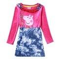 Marca party girls vestidos del tutú de la ropa de moda para niños niños vestidos de noche vestidos de cumpleaños para niñas de manga larga