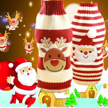Santa Claus Elk Dog Christmas Sweaters For Small Dogs Winter French Bulldog Sweater Chihuahua Dachshund Jumpers Puppy Clothes