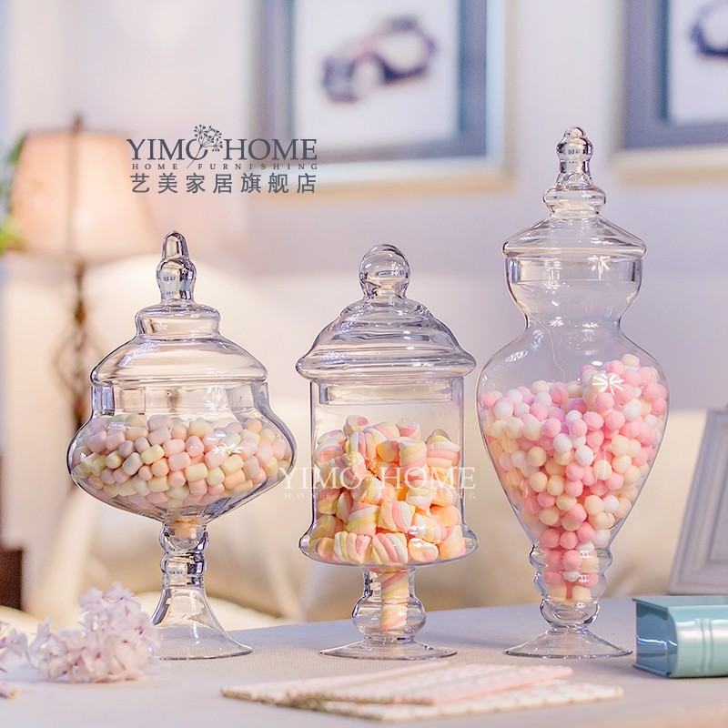 Lovely Straight section transparent high glass jar high quality storage  JR11
