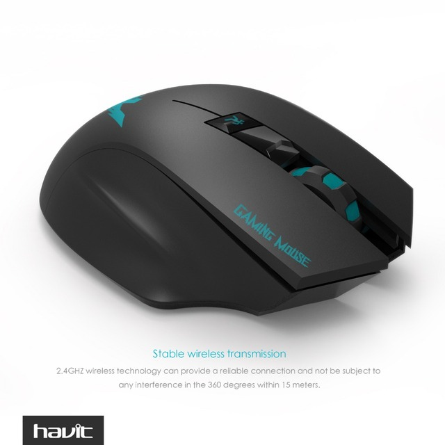 HAVIT 2.4G Wireless Gaming Mouse 1000-1500-2000 DPI 6 Button USB Receiver For PC Laptop Desktop Gamer Mouse Sem Fio HV-MS976GT