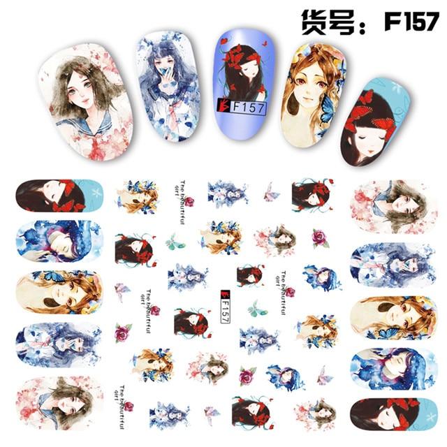 Online Shop 2 Sheets/lot Beautiful 3D Carton Floral Lady Girls ...