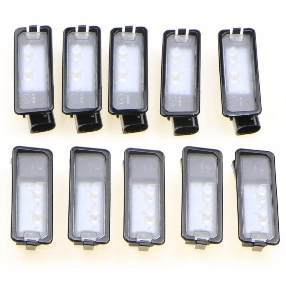 10 pièces OEM véritable plaque d'immatriculation lampe de plaque d'immatriculation LED convenable VW Passat B7 Golf MK7 Scirocco CC Polo 6R 35D 943 021 A
