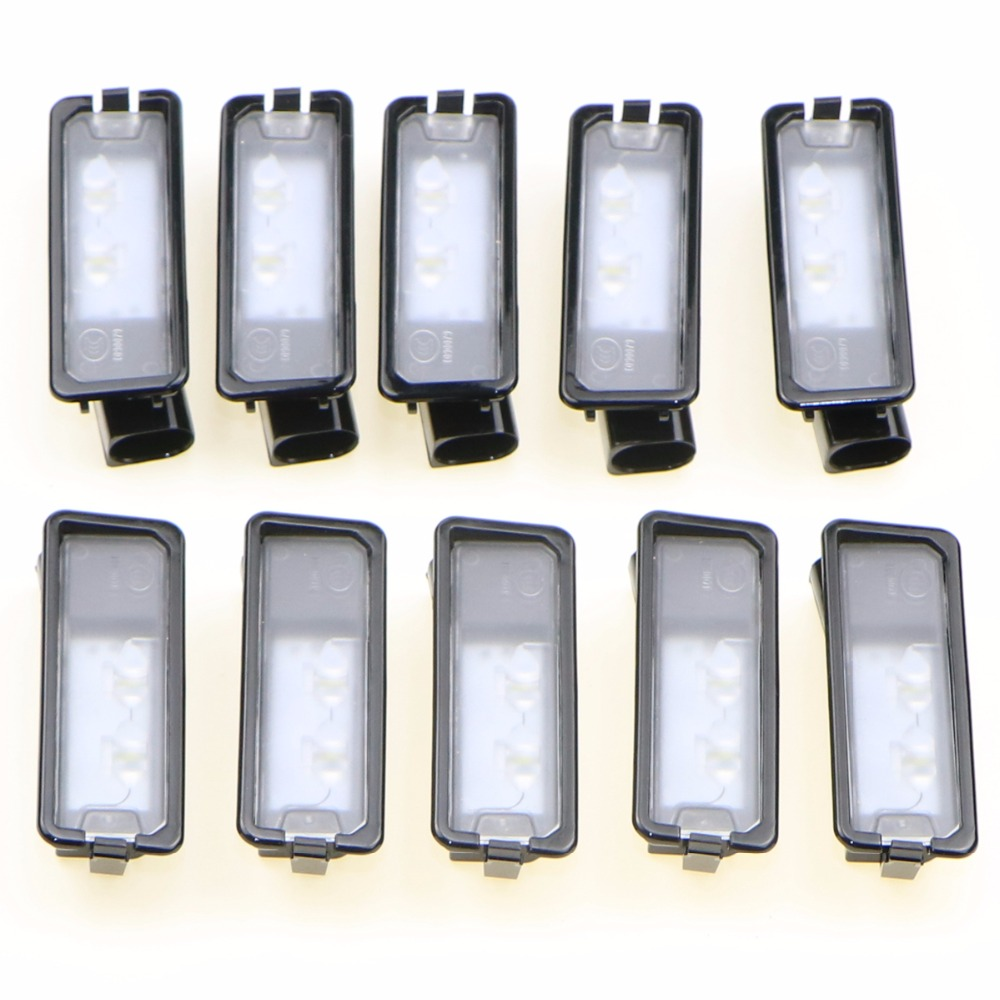 10Pcs OEM VW Genuine Light License Plate LED License Plate Lamp Fit VW Passat B7 Golf MK7 Scirocco CC Polo 6R 35D 943 021 A smaart v 7 new license
