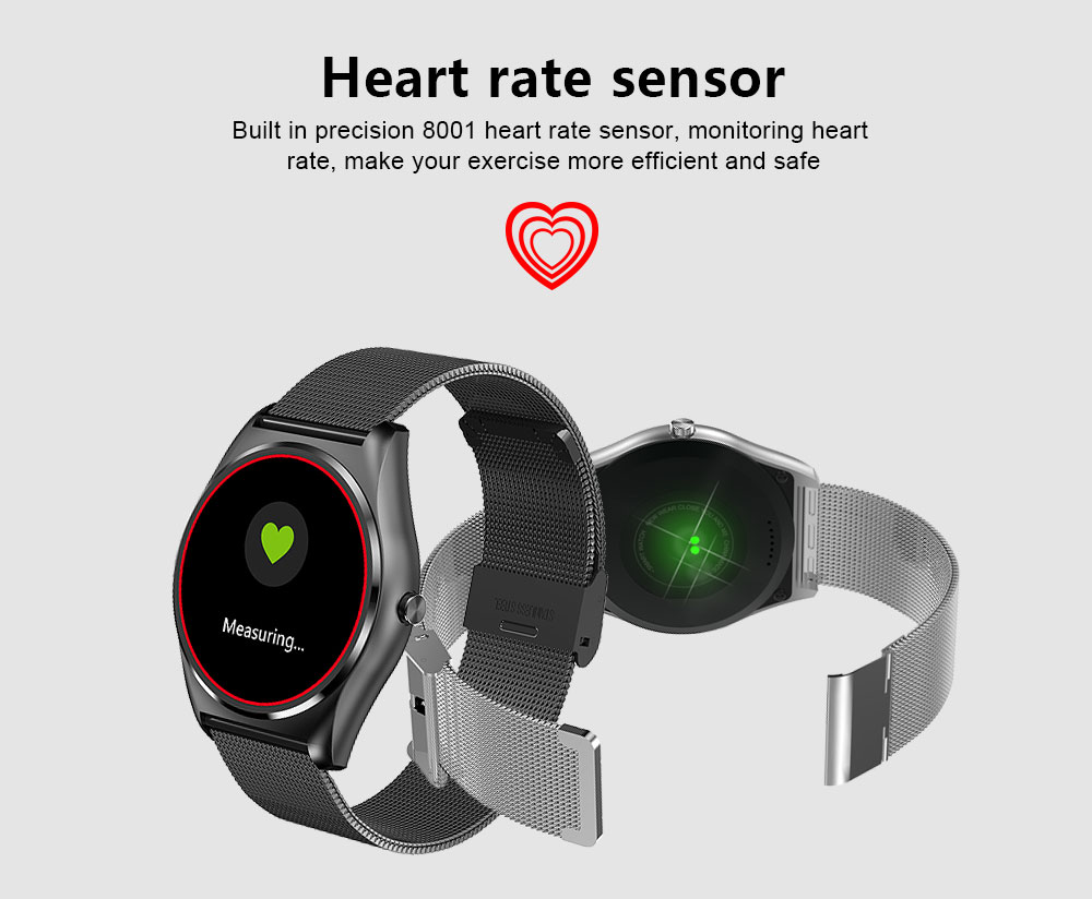 ORDRO Smart Wristband Support Remote Shooting Bluetooth Pedometer Social Media Notifications with Mobile Phone Anti-lost