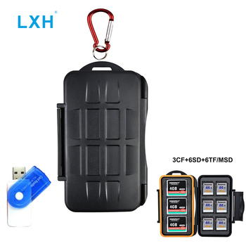 LXH 15 Slots Anti-shock Waterproof Memory Card Storage Case Holder Resistant&Shockproof for SD/CF/Micro SD Memory card box