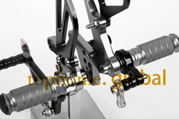 Motorcycle Black&Dark Grey CNC Rearsets Foot Pegs Rear Set For Suzuki GSXR600 2000-2005 motorcycle foot pegs2001 2002 2003 2004