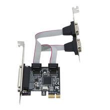 Высокая qualtiy Moschip PCI express 2 Последовательных и 1 параллельный порт Карты RS232 порт Принтера PCIe PCI-e Карты