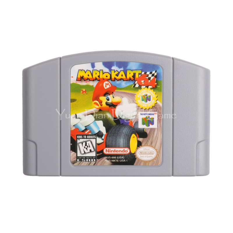 Nintendo N64 Video Game Cartridge Console Card Mario Kart 64 English Language USA Version