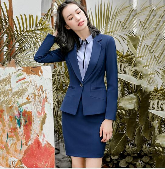 2018 AUTUMN Fashion business pants suits set formal slim Stripe blazer and Trousers office ladies plus size Interview work wear