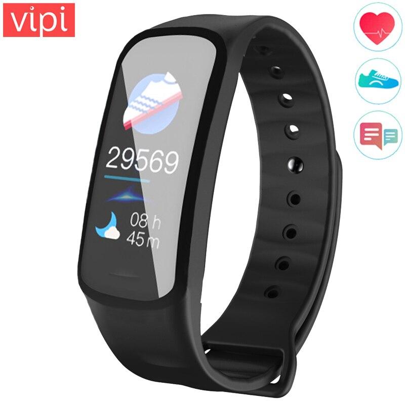 Color Screen Smart Fitness Bracelet Waterproof Sport Wristband Activity Tracker Pedometer Heart Rate Monitor Watch For Men Women