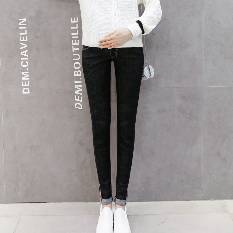 2018 summer maternity jeans pants for pregnant women pregnant jeans prop belly legging skinny maternity clothes for pregnancy woman fashion slim solid knee distrressed maternity wear jeans premama pregnancy prop belly adjustable pants for women c73
