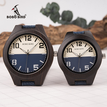 BOBO BIRD New Design Wooden Men Women Watches Lovers Quartz Wristwatches Great Gifts in Woodn Box Drop Shipping W R29