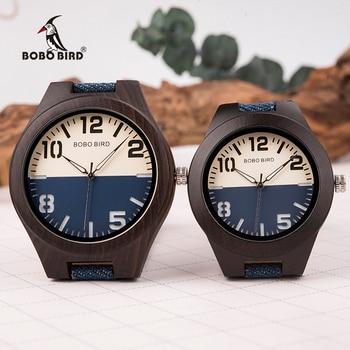 BOBO BIRD New Design Wooden Men Women Watches Lovers Quartz Wristwatches Great Gifts in Woodn Box Drop Shipping W-R29