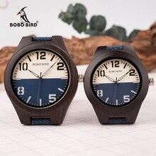 BOBO VOGEL Neue Design Holz Männer Frauen Uhren Liebhaber Quarz Armbanduhren Große Geschenke in Woodn Box Drop Verschiffen W R29