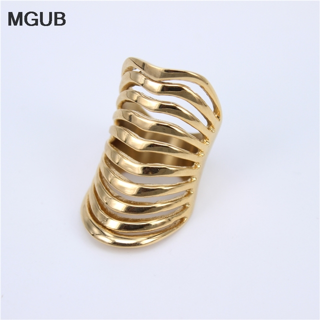 MGUB Silver color popular stainless steel jewelry men and women smooth ring 35mm