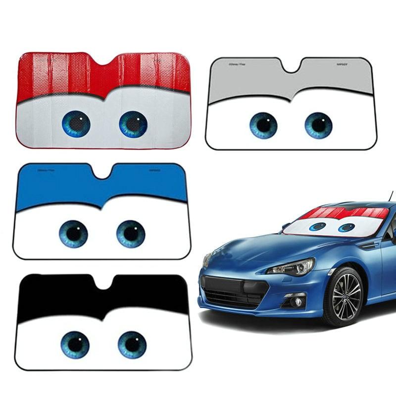 5 Colors Eyes Heated Windshield Sunshade Car Window Windscreen Cover Sun Shade Auto Sun Visor Car-covers Car Solar Protection