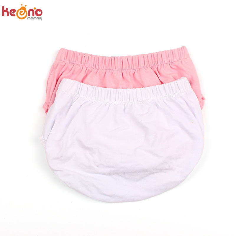 Solid Elastic Cotton Newborn Baby Bloomers Diaper Covers Boys Girls Soft Bubble Shorts Children Summer Sunsuit Baby Shower Gift
