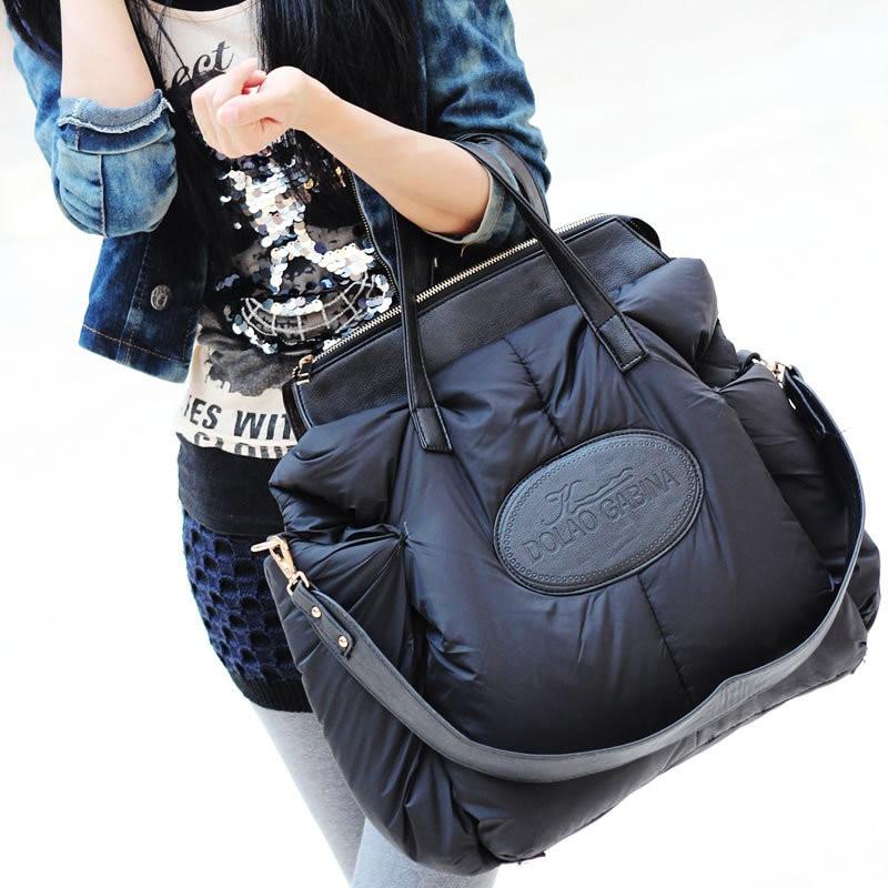 Fashion Space Cotton Material Large Package Down Jacket Bag Large Capacity Winter Ladies Shoulder Bag Sac A Main Bayan Sings