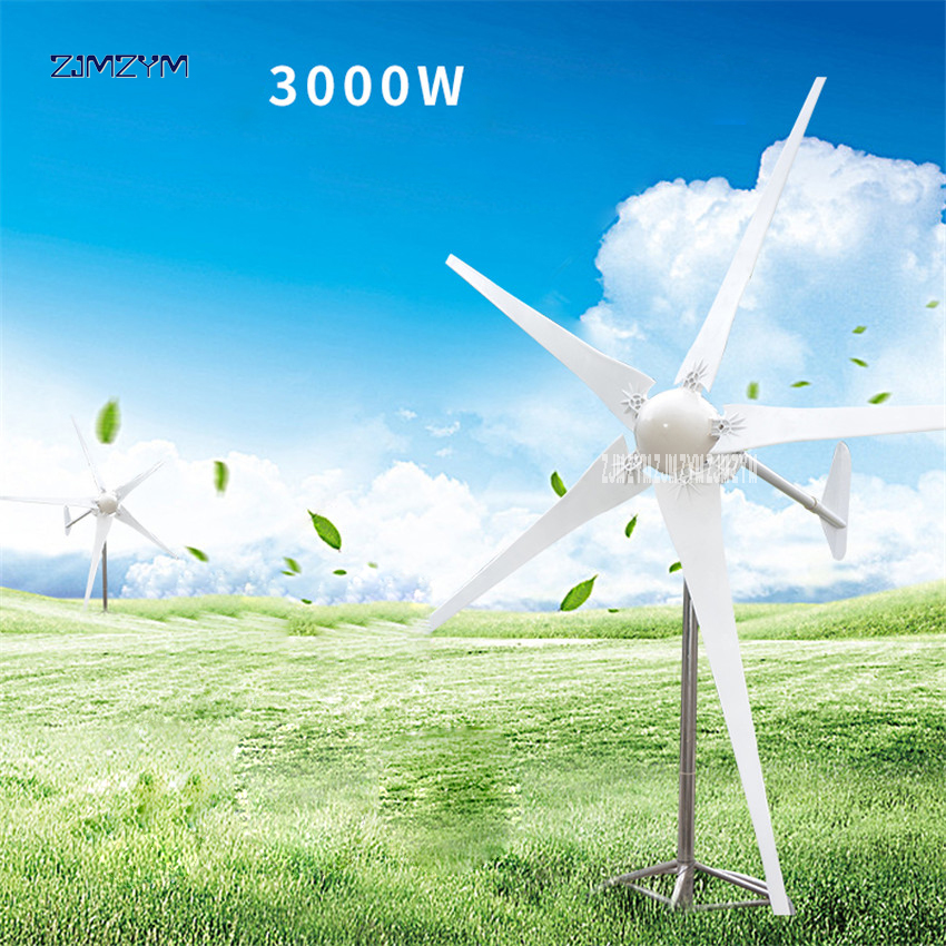 купить 3000W Wind Power Generator; Wind Turbine with 5 Blades+Wind Controller P-3000, Impeller diameter 3300mm for Land and Marine Use по цене 97461.72 рублей