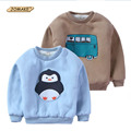 Cartoon Girls And Boys Pullover T-Shirt Fleece Sweatshirt 2016 Winter O-Neck Thick Long Sleeve Warm Tops Casual Children Clothes