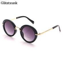 Glitztxunk 2018 Fashion Round Sunglasses Children Brand Desi