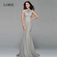 Abendkleider Elegant Long Mermaid Prom Dresses 2017 Crystal Rhinestone High Neck Sexy Formal Evening Gown Party Dresses