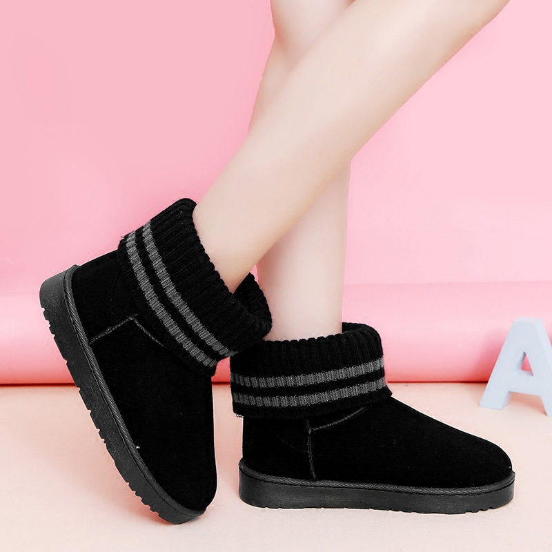 women Ankle Boots Winter Warm Fur Suede Snow Boots Thick Soled Plush Shoes Woman Ladies Creepers Student Non-slip Botas Mujer suede plush women snow boots 2018 winter shoes woman platform fur lined short botines mujer flat ankle boots botas femininas