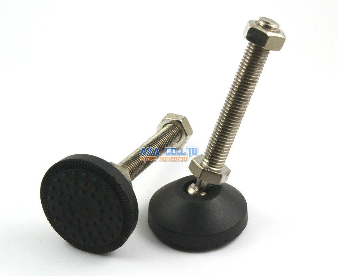 4 Pieces 50mm  Swivel Base M12*80mm Adjustable Lathe Leg Articulating Leveling Feet thyssen parts leveling sensor yg 39g1k door zone switch leveling photoelectric sensors