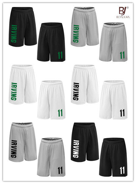 51b9821ba25 BONJEAN Design 11 Kyrie Irving Printed Basketball Shorts With Pockets Quick  Dry Breathable Training Mens Running Sport Shorts-in Basketball Shorts ...